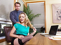 Mia Malkova needs a little help at work. She calls her co-worker over to give her a hand. She ...