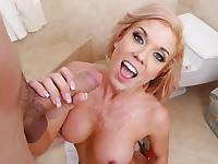 Parker Swayze sneaks in on JMac taking a shower and seduces him into fucking her while ...