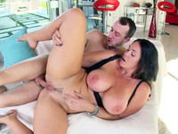 Huge breasted Alison Tyler gets her pussy and asshole stuffed in spoons position