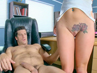 Geeky girl in glasses Alice Lighthouse mounts her teacher's hardened doniker