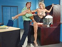 Harlow Harrison is a big-titted employee at an office where she cant stop thinking about her ...