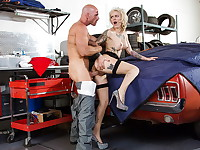 Kleio Valentien stops by to pick up her car, unfortunately, it isn't ready yet. The shop ...