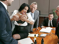 Missy Martinez is chosen by her office to sample a new female product line, which is meant to ...