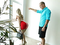 Alexis Fawx is helping her friend's husband redecorate his place when he starts coming on ...
