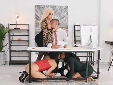 Bridgette B, Katana Kombat, Luna Star, Victoria June in Office 4-Play: Latina Edition