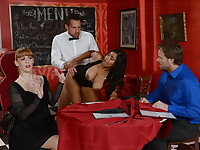 Maitred Johnny Castle and waitress Jenna J Foxx are horny as fuck, and though they may work in ...