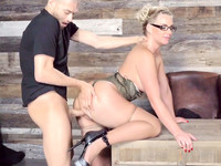 Hot milf in glasses Phoenix Marie makes Xander lick her cunt and fuck her doggy-style