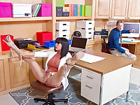 Luna Star is snapping some selfies at the office. She leaves her phone on her desk and takes ...
