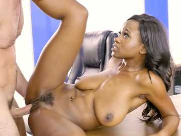 Strict business woman Jezabel Vessir gets banged on the table by employee